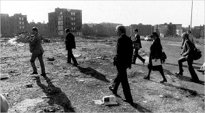President Jimmy Carter tours the South Bronx in 1977.  NY Times Photo